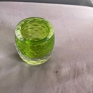 Lead crystal candle holder